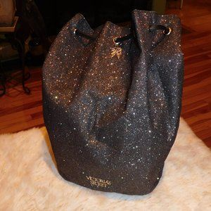 Victoria's Secret Glittery Drawstring Backpack